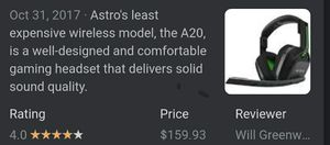 A20 astro wireless gaming headset for Sale in Westminster, MD