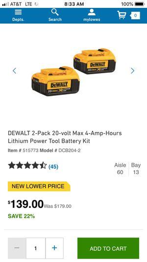 20v dewalt batteries and charger new for Sale in Hudson, NY