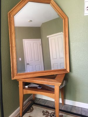 Table and mirror very nice 👍 must go ! for Sale in Tracy, CA