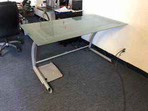 "56"" frosted glass desk for Sale in Oakland Park, FL"