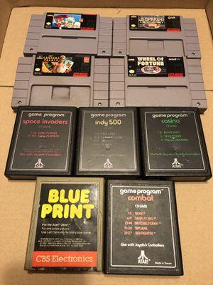 Super Nintendo • SNES • Atari 2800 Games • 9 Games TOTAL for Sale in Pompano Beach, FL