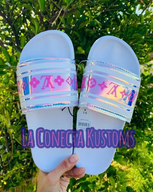 Brand new custom holographic sandals for Sale in Phoenix, AZ