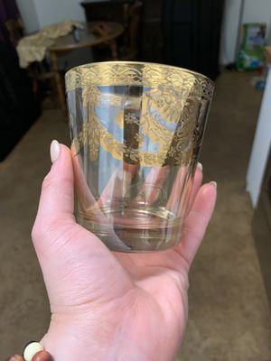 J Preziose Gold glasses vintage Italy real 6 glassware collectible antique for Sale in Phoenix, AZ