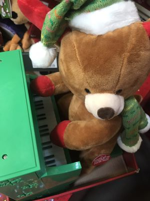 """12"""" plush animated piano playing teddy bear for Sale in Houston, TX"""