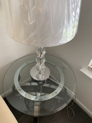 Glass Side Tables with lamps and coffee table for Sale in Stone Ridge, VA