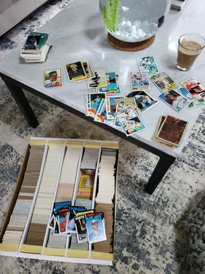 Big box of 1980s and 90 baseball cards for Sale in Kirkland, WA