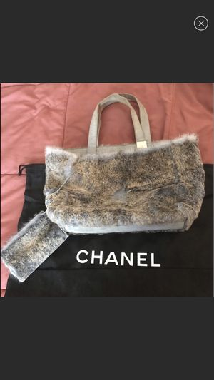 Chanel fur bag/with attached pouch for Sale in Las Vegas, NV