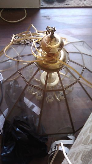 Chandelier, 12 bulbs , glass exterior {contact info removed} for Sale in Fresno, CA