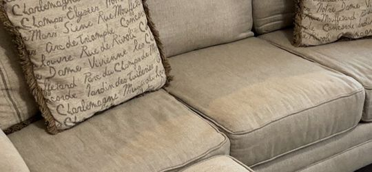 Sofa, Oversized Wing Chair, Ottoman, And 6 Pillows for Sale in Canton,  GA