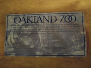 Oakland Zoo Pass for Sale in Oakland, CA