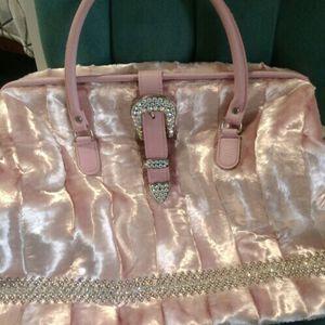 Raviani Pink Faux Fur Crystal Embellished Tote Bag for Sale in Austin, TX