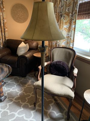 Decorative Floor Lamp with leather shade for Sale in Trenton, NJ