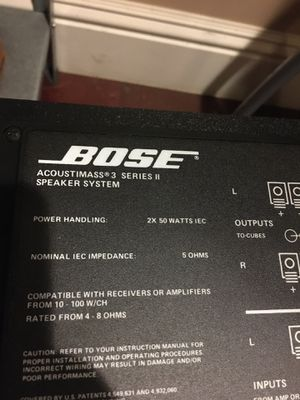 BOSE Acoustimass 3 Series II system with stands for Sale in Pasadena, CA
