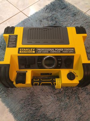 Stanley Fatmax professional power station jump starter, compressor & power supply for Sale in Brentwood, TN