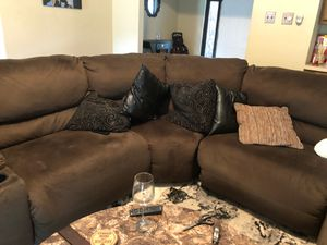 Large comfy sectional with 3 tables for Sale in Florissant, MO