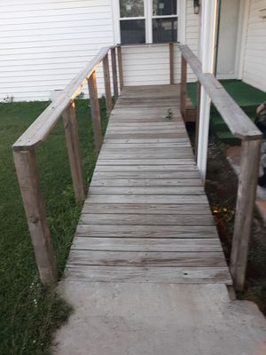 21 FT. HANDICAP RAMP, YOU MUST DISASSEMBLE YOURSELF $150, CALL {contact info removed} for Sale in Oklahoma City, OK