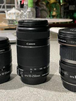 Three Canon Lenses for Sale in Sacramento,  CA
