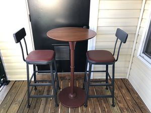 Metal raised table and stools for Sale in Herndon, VA