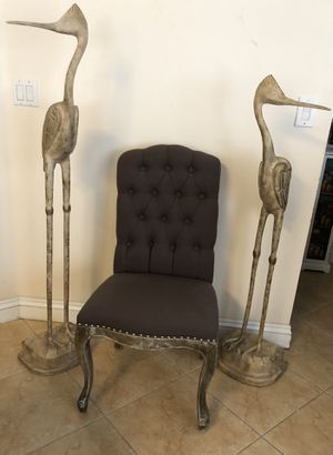 Home decor Two unique very large /tall Wooden Great Blue Carved Herons for Sale in Miami, FL