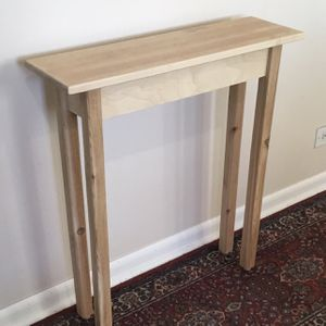 """27"""" Unfinished Bare Wood Narrow Modern Sofa Entry Hallway Side Table for Sale in Arlington Heights, IL"""