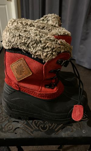 Oakiwear Red Snow All Weather leather boots toddler size 7 for Sale in Torrance, CA