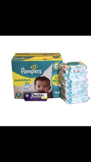 Pampers Swaddlers Size 2 with Desitin for Sale in Miami Gardens, FL