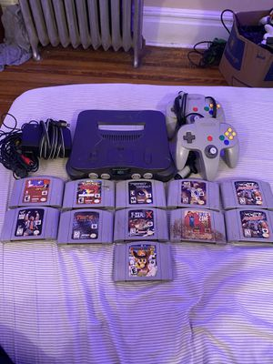 Nintendo 64 2 controllers, 11 games for Sale in East Orange, NJ