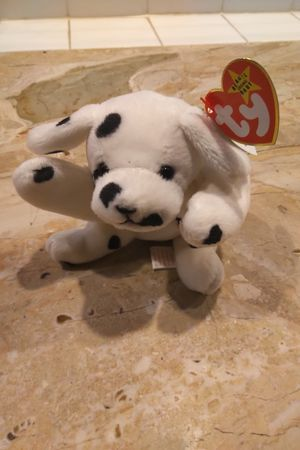 Sparky 1996 Beanie Baby Dalmatian Dog Spots Black White for Sale in Herndon, VA