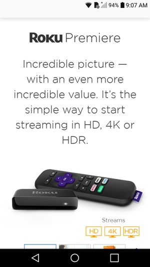 Roku Premiere Plus streaming device for Sale in Tuscumbia, AL