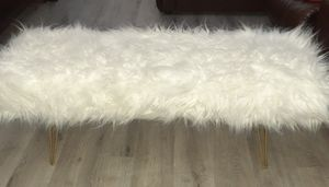 White Fur Bench New $100 for Sale in Henderson, NV