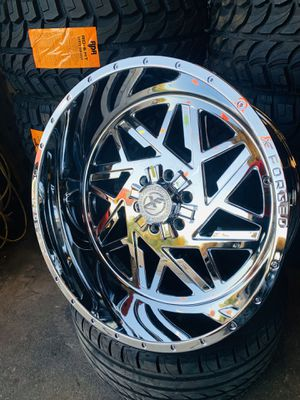 Sierra rims and tires 🔥 for Sale in Phoenix, AZ