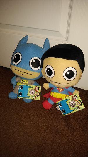 DC Comics Batman & Superman Plushies for Sale in Peoria, AZ