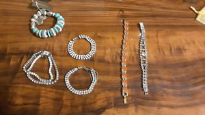 Fashion Jewelry- 6 bracelets and 6 rings for Sale in Lake Worth, FL