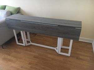 Modern Grey Drop Leaf Table/Console for Sale in Chicago, IL