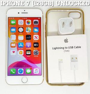 IPhone 7 Regular (128GB) Factory-UNLOCKED + Accessories for Sale in Arlington, VA