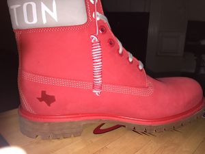Houston Rockets Timberlands Size 9.5 /10/ 11.5 for Sale in College Station, TX