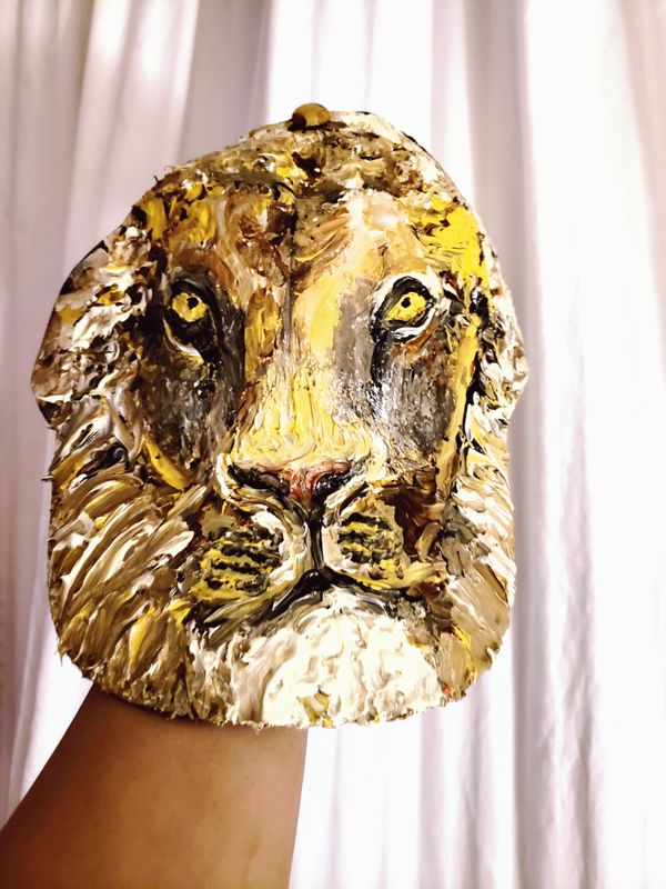 Lion Head on a Hat