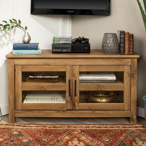 Walker Edison Furniture Company 44 in. Wood Corner TV Media Stand Storage Console - Barnwood for Sale in Grand Prairie, TX