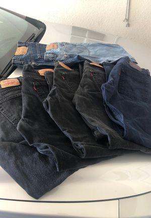 7 pair of Levi's for Sale in Albuquerque, NM
