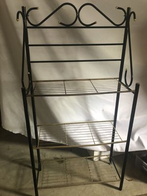 Metal rack with shelves $30 obo for Sale in St. Petersburg, FL