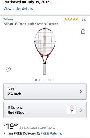 Wilson US Open Junior Tennis Racquet for Sale in North Haven, CT