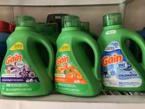 Gain Laundry Detergent $8.50 each 2/$16 for Sale in Victorville, CA
