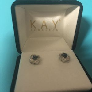 Kay diamond and sapphire earrings for Sale in Las Vegas, NV