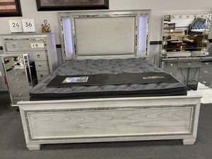 Grey King Bed Frame ON SALE🔥 for Sale in Fresno, CA