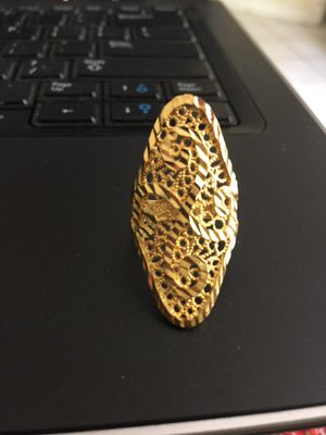 22ct gold plated ring jewelry accessory size 8 for Sale in Silver Spring, MD