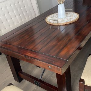 Rustic Modern Dining Table 7 Pc for Sale in Golden, CO
