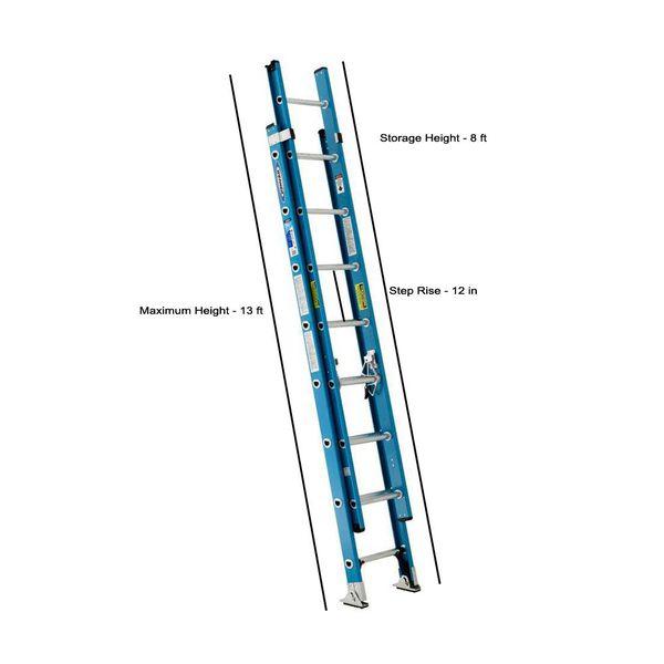 Werner 16-ft Fiberglass Type 1 - 250 lbs. Extension Ladder