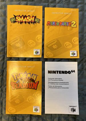 Nintendo 64 Instruction Manuals for Sale in Sterling, MA