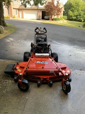 X Mark Turf Tracer. Never used commercially. 110 hours on the clock. Mulching blades, grass bag, and manual included. for Sale in Battle Creek, MI