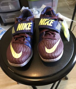 Nike Zoom High Jump Elite Track and Field Bordeaux Lime 806561-600 Men's 5 for Sale in Zachary, LA